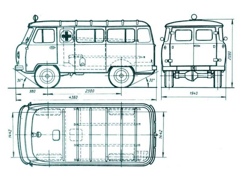UAZ-452 drawing