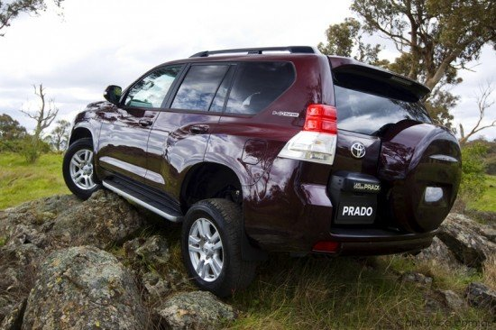 Toyota Land Cruiser Prado: вид сзади
